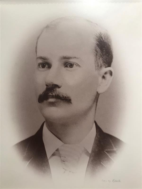 Portrait of WR Smith bank president