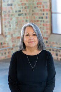 Juanita Arispe in building